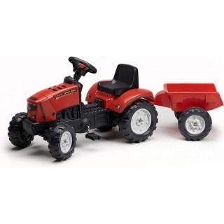 FALK - Šlapací traktor Farm Lander Z160X s vlečkou červený