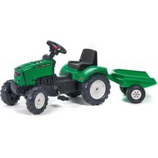 FALK - Šlapací traktor Farm Lander s vlečkou Z160X s otevírací kapotou zelený