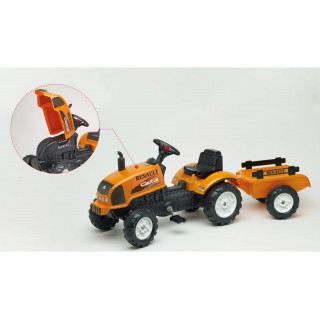 FALK - Šlapací traktor Renault Celtis 436RX s vlečkou
