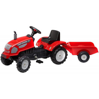 FALK - Šlapací traktor Farm Master 270i s vlečkou červený