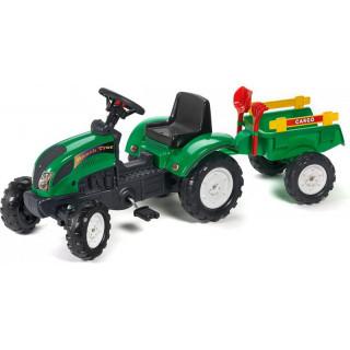 FALK - Šlapací traktor Ranch Trac s vlečkou zelený