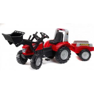 FALK - Šlapací traktor McCormick s nakladačem a vlečkou