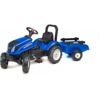 FALK - Šlapací traktor New Holland T6 s vlečkou modrý