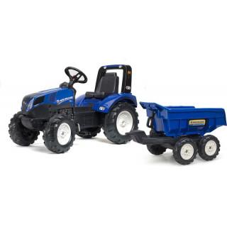FALK - Šlapací traktor New Holland T8 s maxi vlečkou