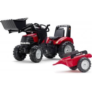 FALK - Šlapací traktor Case IH Puma 240CVX s nakladačem a vlečkou