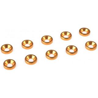 Podložka pro záp. šroub M3 hliník zlatá (10)