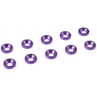 Podložka pro záp. šroub M3 hliník fialová (10)