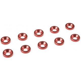 Podložka pro záp. šroub M3 hliník červená (10)