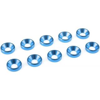 Podložka pro záp. šroub M4 hliník modrá (10)