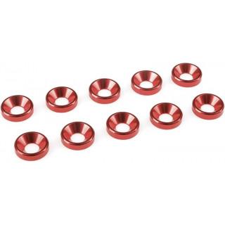 Podložka pro záp. šroub M4 hliník červená (10)