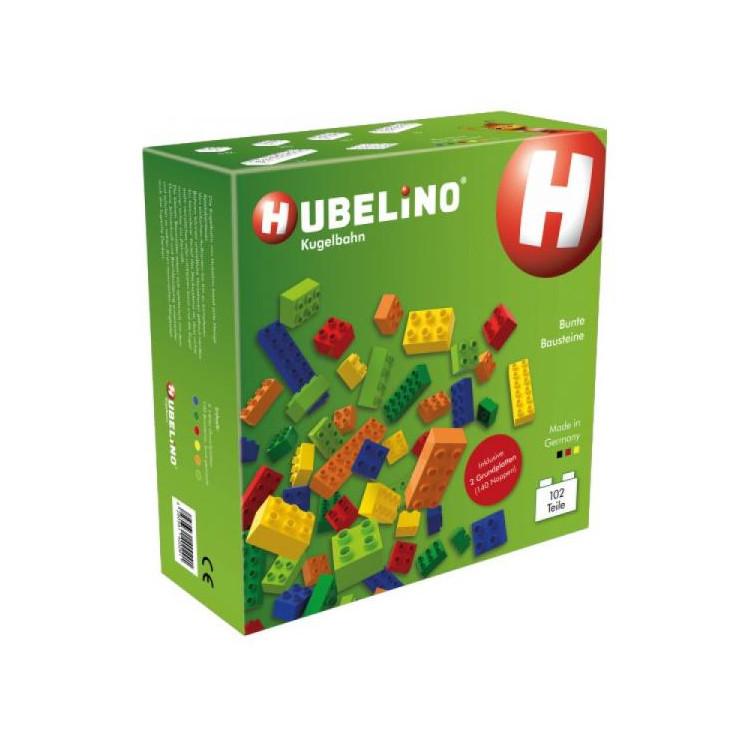 HUBELINO Kuličková dráha - kostky barevné 102