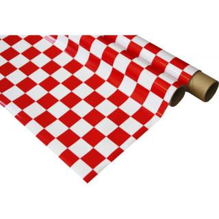 IronOnFilm - kostkovaná bílo/červená 0.6x2m