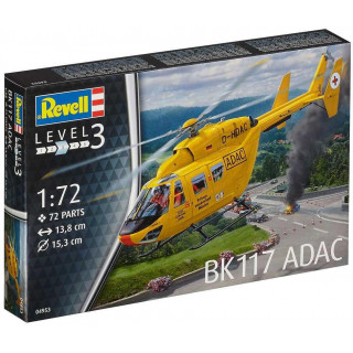 Plastic ModelKit vrtulník 04953 - BK-117 ADAC (1:72)