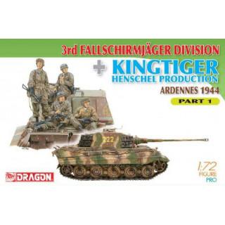Model Kit military 7361 - 3rd Fallschirmjager Division + Kingtiger Henschel Production (Ardennes 1944) Part 1 (1:72)