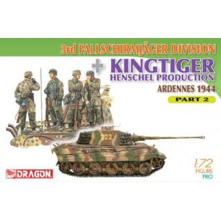 Model Kit military 7362 - 3rd Fallschirmjager Division + Kingtiger Henschel Production (Ardennes 1944) Part 2  (1:72)