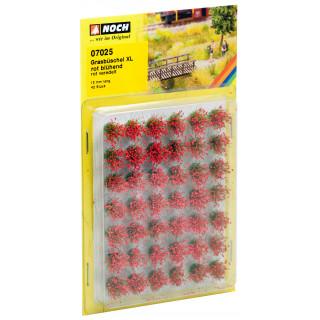 """Travní trsy mini set XL """"Kvetoucí"""", červené, 12mm"""