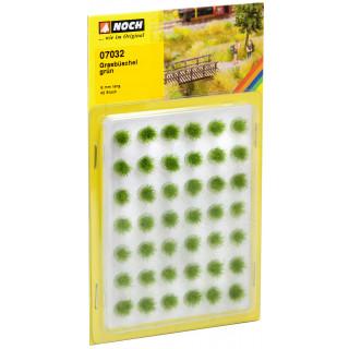 Travní trsy mini set, zelené, 6mm