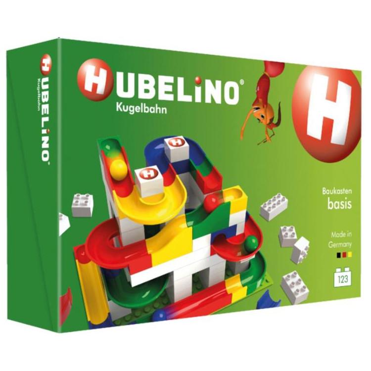 HUBELINO Kuličková dráha - set s kostkami Basic 123ks