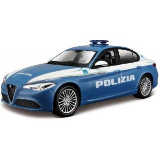 Bburago Alfa Romeo Giulia Polizia 1:24 modro-bílá