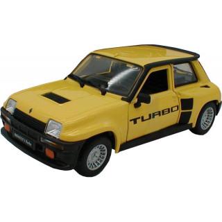 Bburago Renault 5 Turbo 1:24 žlutá