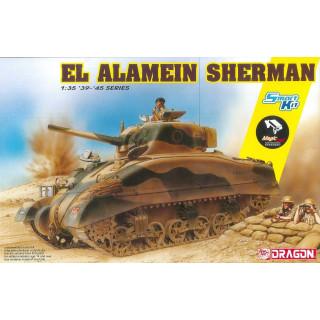 Model Kit tank 6617 - El Alamein Sherman (w/Magic Tracks) (SMART KIT) (1:35)
