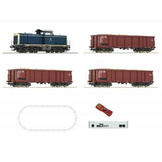 Digitální Z21 startovací sada: dieselová lokomotiva třídy 211 s nákladním vlakem, DB