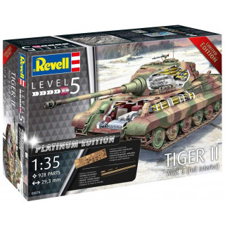 Plastic ModelKit tank Limited Edition 03275 - TIGER II Ausf. B - Full Interior (Platinum Edition)  (1:35)