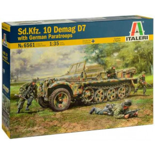 Model Kit military 6561 - Sd. Kfz. 10 Demag D7 with German Paratroops (1:35)
