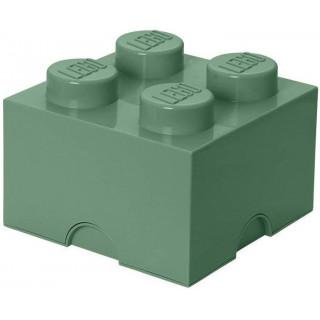 LEGO úložný box 250x250x180mm - army zelená
