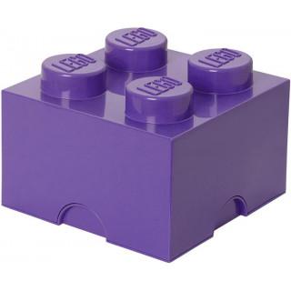 LEGO úložný box 250x250x180mm - fialový
