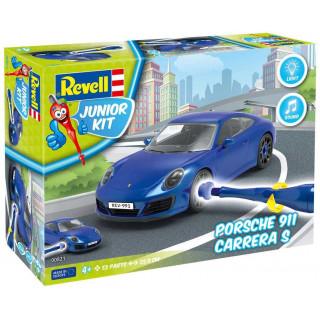 Junior Kit auto 00821 - Porsche 911 Carrera S (světelné a zvukové efekty) (1:20)