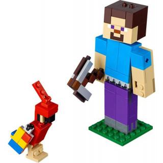 LEGO Minecraft - Velká figurka: Steve s papouškem