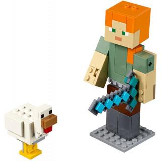 LEGO Minecraft - Velká figurka: Alex s kuřetem
