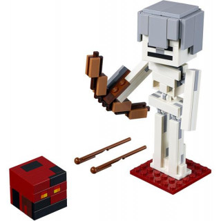 LEGO Minecraft - Velká figurka: Kostlivec s pekelným slizem
