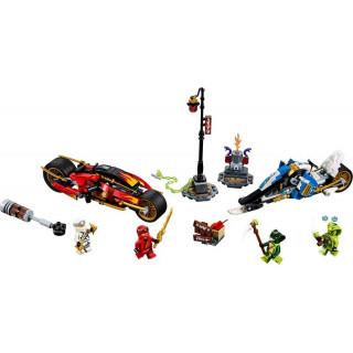 LEGO Ninjago - Kaiova motorka s čepelemi a Zaneův sněžný vůz