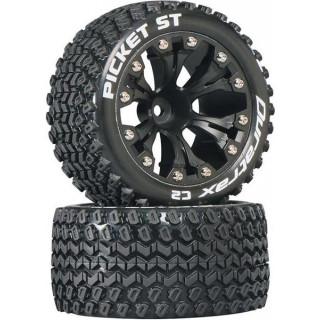 """Duratrax kolo 2.8"""" Picket ST 2WD 1/2"""" Offset černá (2)"""