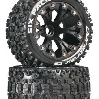 """Duratrax kolo 2.8"""" Six Pack ST 2WD přední C2 černá (2)"""