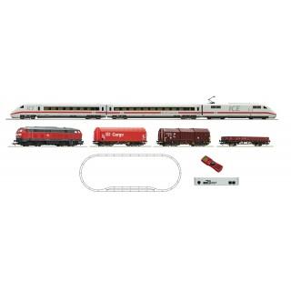 Digitální Startovací sada s ICE 2 a DB nákladní vlak s BR 218