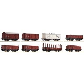 Set osmi nákladních vagónů DB