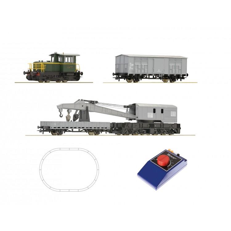 Analogová startovací sada: Dieselová lokomotiva D.214 a jeřáb vlak, FS