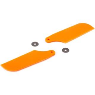 Blade 450/X: Listy ocasního rotoru oranžové