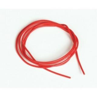 Silikonový kabel 0,5qmm, 20AWG, 1metr, červený