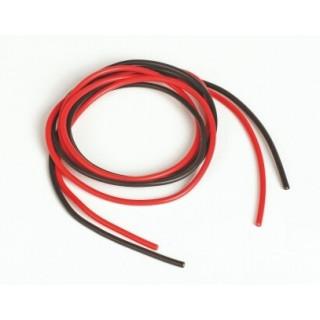 Silikonový kabel 1,0qmm, 17AWG, 2x1metr, černý a červený