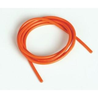 Silikonový kabel 2,0qmm, 14AWG, 1metr, oranžový