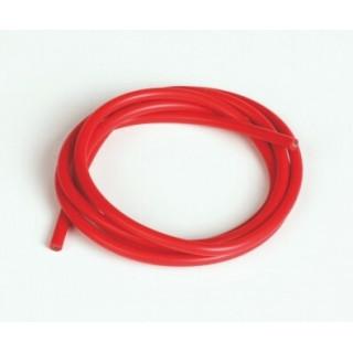 Silikonový kabel 2,6qmm, 13AWG, 1metr, červený