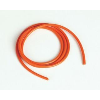 Silikonový kabel 2,6qmm, 13AWG, 1metr, oranžový