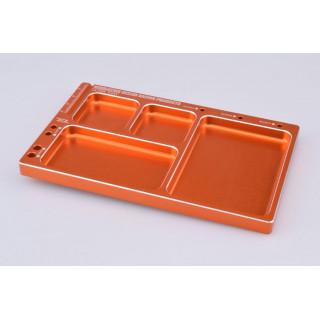 Hliníková odkládací miska (oranžová)
