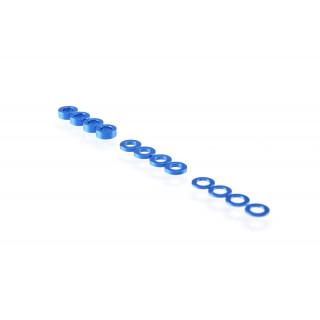 3mm sada podložek tmavě modré (0.5mm/1.0mm/2.0mm)