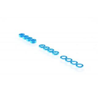3mm sada podložek modré (0.5mm/1.0mm/2.0mm)
