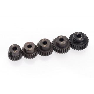 48DP ocelové pastorky, 5 ks. (19,21,23,25,27 zubů)